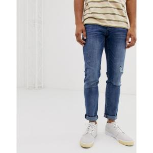 ジャック アンド ジョーンズ メンズ デニム ボトムス Jack & Jones Intelligence Glenn regular fit jeans in blue Blue|astyshop