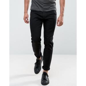チープマンデー メンズ デニム ボトムス Cheap Monday Audiac Regular Taper Jeans Deep Black Black|astyshop
