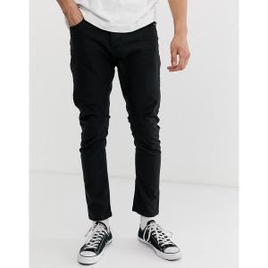 ジャック アンド ジョーンズ メンズ デニム ボトムス Jack & Jones LUKE slim fit jeans Black|astyshop