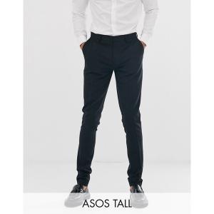 エイソス メンズ カジュアル ボトムス ASOS DESIGN Tall super skinny fit suit pants in black Black astyshop