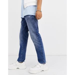 ジースター メンズ デニム ボトムス G-Star Radar straight tapered fit zip jeans in light wash Light wash|astyshop