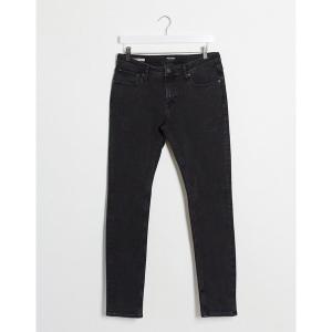 ジャック アンド ジョーンズ メンズ デニム ボトムス Jack & Jones Intelligence Liam skinny sustainable jeans in black Black|astyshop