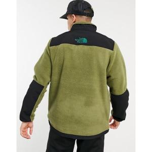 ノースフェイス メンズ ジャケット&ブルゾン アウター The North Face Steep Tech half zip fleece jacket in green Burnt olive /evergreen astyshop