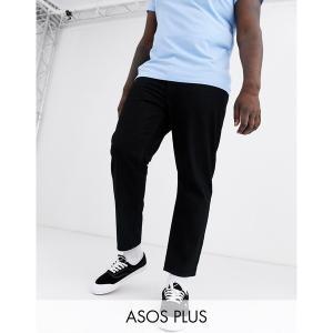 エイソス メンズ デニム ボトムス ASOS DESIGN Plus classic rigid jeans in black Black|astyshop