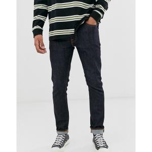 ヌーディージーンズ メンズ デニム ボトムス Nudie Jeans Co Lean Dean slim tapered fit jeans in 16 dips blue Navy|astyshop