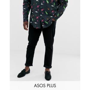 エイソス メンズ デニム ボトムス ASOS DESIGN Plus slim jeans in black Black|astyshop