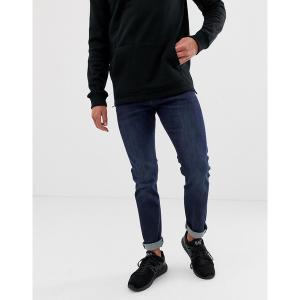 アルマーニエクスチェンジ メンズ デニム ボトムス Armani Exchange J13 slim fit mid dark wash jeans Blue|astyshop