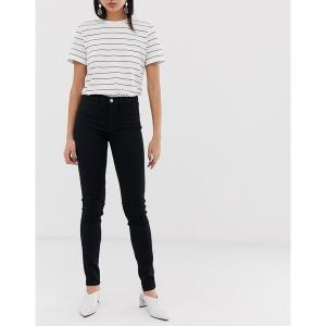 セレクティッド レディース デニム ボトムス Selected femme clean skinny jean in black Black|astyshop