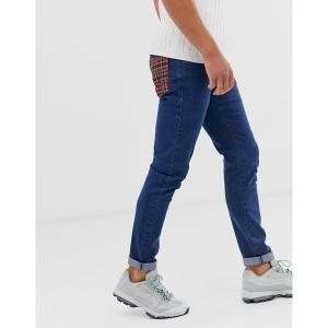 ルブレーブ メンズ デニム ボトムス Le Breve check back pocket jeans Mid wash|astyshop