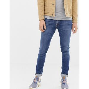 ヌーディージーンズ メンズ デニム ボトムス Nudie Jeans Co Skinny Lin skinny fit jeans in mid authentic power wash Blue|astyshop