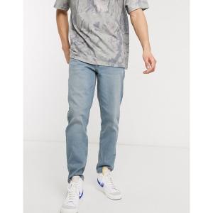 エイソス メンズ デニム ボトムス ASOS DESIGN stretch tapered jeans in light wash blue Light wash blue|astyshop