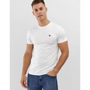 ポールスミス メンズ Tシャツ トップス PS Paul Smith slim fit zebra logo t-shirt in white White astyshop