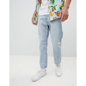 チープマンデー メンズ デニム ボトムス Cheap Monday In Law Tapered Jeans Pixel Blue Pixel blue|astyshop