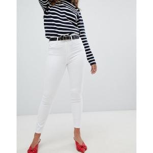 リバーアイランド レディース デニム ボトムス River Island White Harper Super Skinny High Rise Jeans White|astyshop