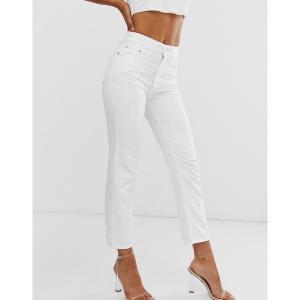リバーアイランド レディース デニム ボトムス River Island mom jeans in white White|astyshop