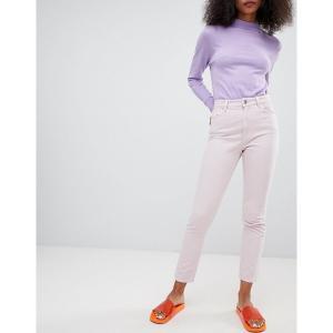 モンキ レディース デニム ボトムス Monki mom jeans Dusty light pink|astyshop