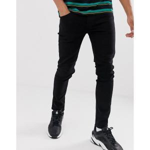 オンリーアンドサンズ メンズ デニム ボトムス Only & Sons skinny fit jeans in black Black|astyshop