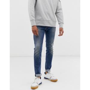 ディーゼル メンズ デニム ボトムス Diesel Sleenker-X skinny fit jeans in 082AB mid wash Blue|astyshop