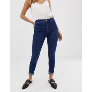 ニュールック レディース デニム ボトムス New Look high waist skinny jean in mid blue Mid blue|astyshop