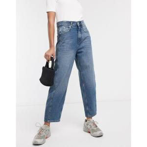 ホイッスルズ レディース デニム ボトムス Whistles High waist barrel leg jeans in mid wash Mid wash|astyshop