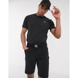 カルバンクラインゴルフ メンズ Tシャツ トップス Calvin Klein Golf Newport t-shirt in black Black astyshop