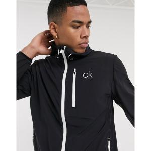 カルバンクラインゴルフ メンズ ジャケット&ブルゾン アウター Calvin Klein Golf 24/7 Ultrlight jacket in black Black astyshop