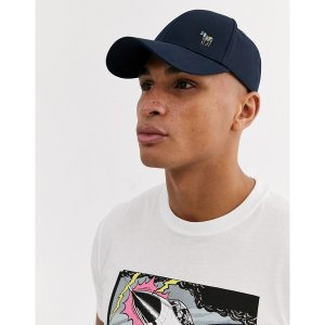 ポールスミス メンズ 帽子 アクセサリー PS Paul Smith zebra logo baseball cap in navy Navy|astyshop