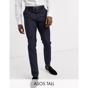 エイソス メンズ カジュアル ボトムス ASOS DESIGN Tall slim suit pants in navy Navy astyshop