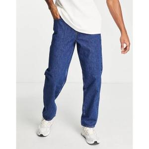 エイソス メンズ デニム ボトムス ASOS DESIGN baggy jeans in mid wash blue Mid wash blue|astyshop