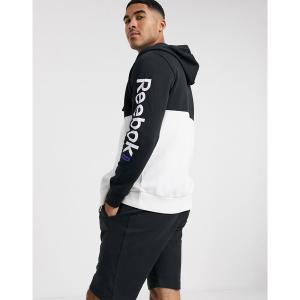 リーボック メンズ パーカー・スウェットシャツ アウター Reebok Training Essentials full zip hoodie in white White|astyshop
