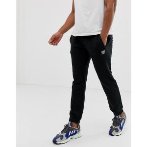 アディダスオリジナルス メンズ カジュアル ボトムス adidas Originals Sweatpants with logo Embroidery in black Black astyshop