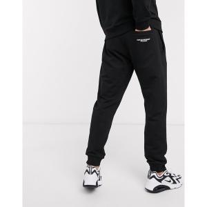 エンポリオ アルマーニ メンズ カジュアル ボトムス Emporio Armani logo draw cord sweatpants in black Black astyshop