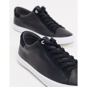 カンペール メンズ スニーカー シューズ Camper leather sneaker in black Black astyshop