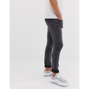 オンリーアンドサンズ メンズ デニム ボトムス Only & Sons slim fit jeans in gray Gray denim|astyshop