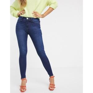リバーアイランド レディース デニム ボトムス River Island Molly jeans in dark wash Dark auth|astyshop