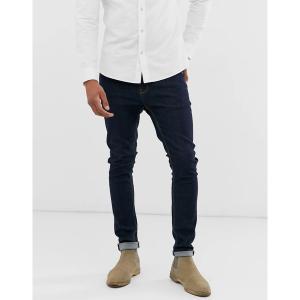 エイソス メンズ デニム ボトムス ASOS DESIGN super skinny jeans in indigo Indigo|astyshop