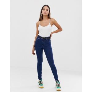 エイソス レディース デニム ボトムス ASOS DESIGN Ridley high waisted skinny jeans in deep blue wash Popular deep blue|astyshop
