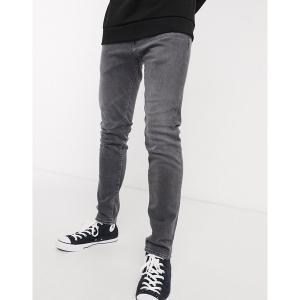 エドウィン メンズ デニム ボトムス Edwin ED85 skinny fit jeans in gray denim Kentaro wash|astyshop