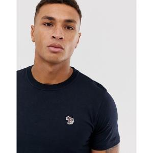 ポールスミス メンズ Tシャツ トップス PS Paul Smith slim fit zebra logo t-shirt in navy Navy astyshop