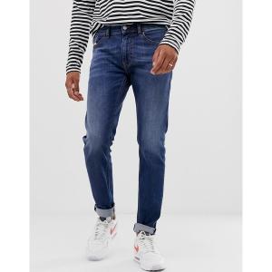 ディーゼル メンズ デニム ボトムス Diesel Thommer stretch slim fit jeans in 082AZ mid wash Blue|astyshop