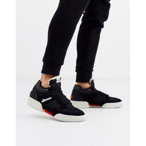 エレッセ メンズ スニーカー シューズ Ellesse piazza sneaker in black Black astyshop