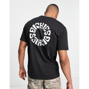 ディッキーズ メンズ Tシャツ トップス Dickies Globe back print t-shirt in black Black astyshop