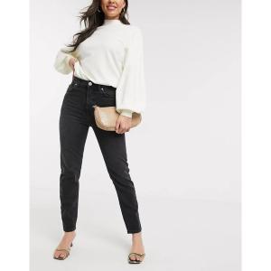 リバーアイランド レディース デニム ボトムス River Island Original slim fit jeans in mid wash black Washed black|astyshop