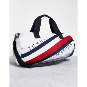 トミー ヒルフィガー メンズ ボストンバッグ バッグ Tommy Hilfiger stride sport duffle bag Bright whitept|astyshop