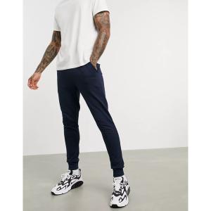 エイソス メンズ カジュアル ボトムス ASOS DESIGN organic skinny sweatpants in navy Navy astyshop