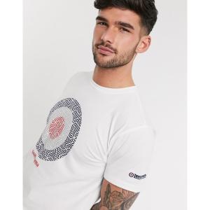 ランブレッタ メンズ Tシャツ トップス Lambretta target t-shirt in white White astyshop