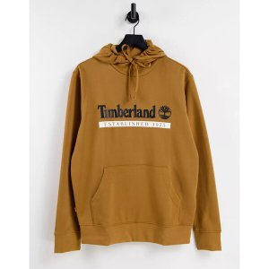 ティンバーランド メンズ パーカー・スウェットシャツ アウター Timberland Established 1973 hoodie in wheat tan - part of a set  Wheat Tan astyshop
