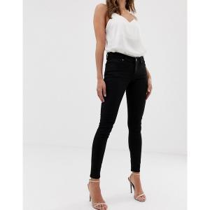 エイソス レディース デニム ボトムス ASOS DESIGN Whitby low rise skinny jeans in clean black Clean black|astyshop