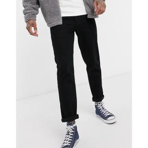 エイソス メンズ デニム ボトムス ASOS DESIGN stretch tapered jeans in black Black|astyshop