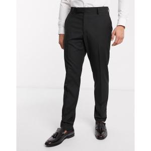 エイソス メンズ カジュアル ボトムス ASOS DESIGN slim suit pants in black Black astyshop